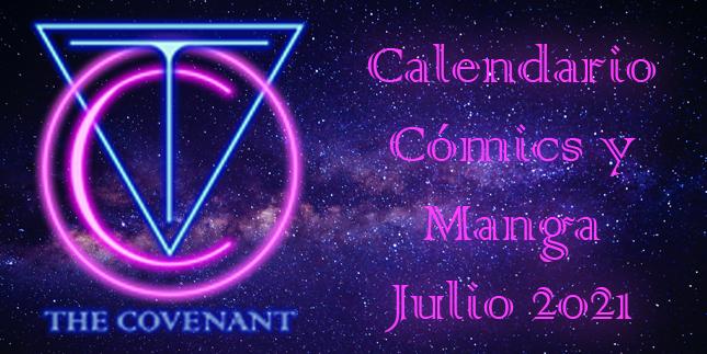 Calendario de Cómics y Manga julio 2021