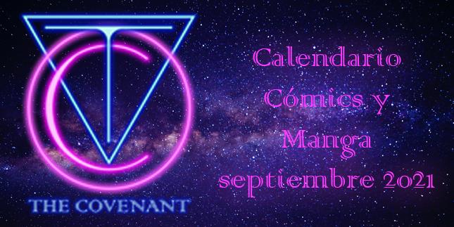 Calendario de Cómics y Manga septiembre 2021